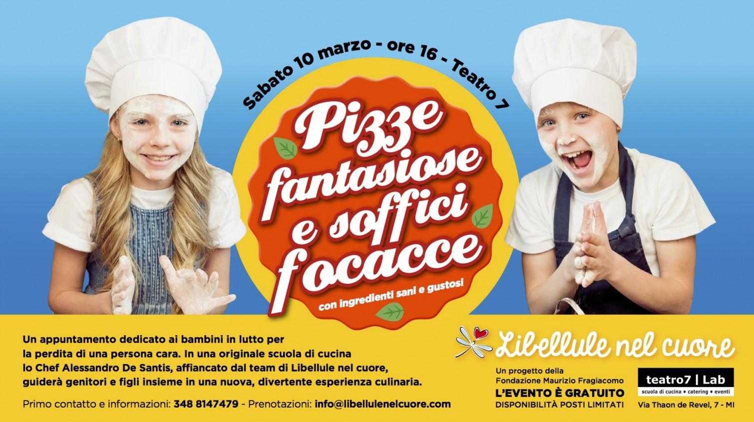 Pizze fantasiose e soffici focacce